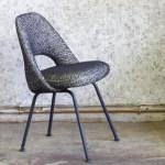 chaise conférence knoll, artisan tapissier, paris, larsen